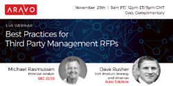 Webinar - Best Practices for Third Party Management RFPs