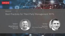 Aravo Webinar - Best Practices for Third Party Management RFPs